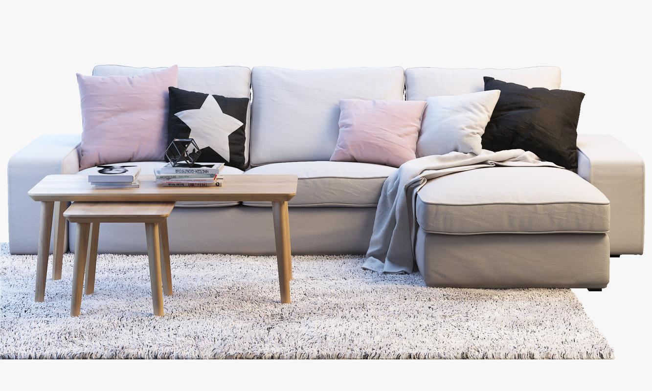 Ikea Kivik Two Seat Sofa Chaise