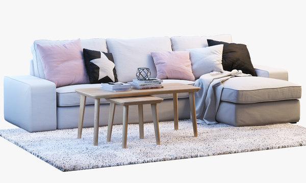 Prime Ikea Kivik Two Seat Sofa With Chaise Longue Uwap Interior Chair Design Uwaporg