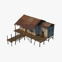 wooden house wood model