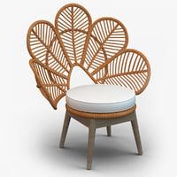 3D rattan daisie chair