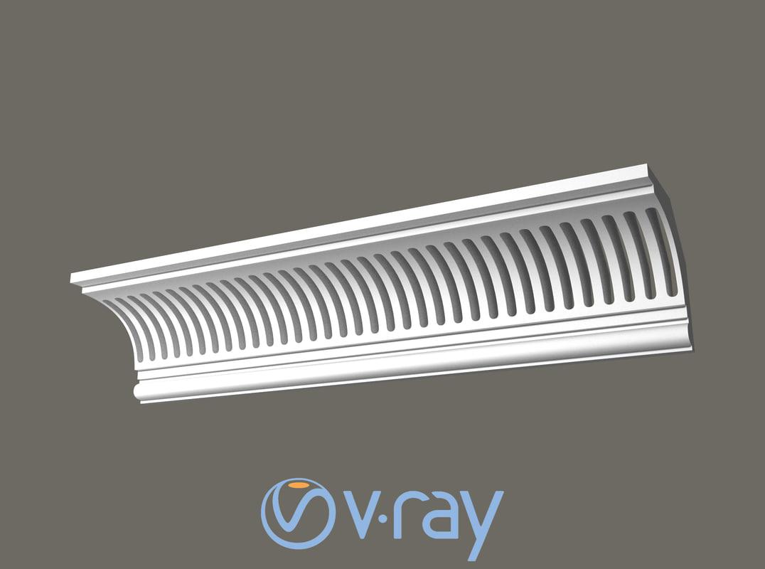 eaves cornice 3D model