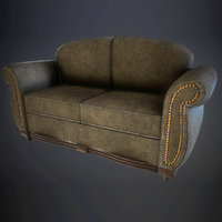 dirty sofa 3D model