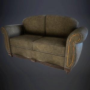 dirty sofa 3D model
