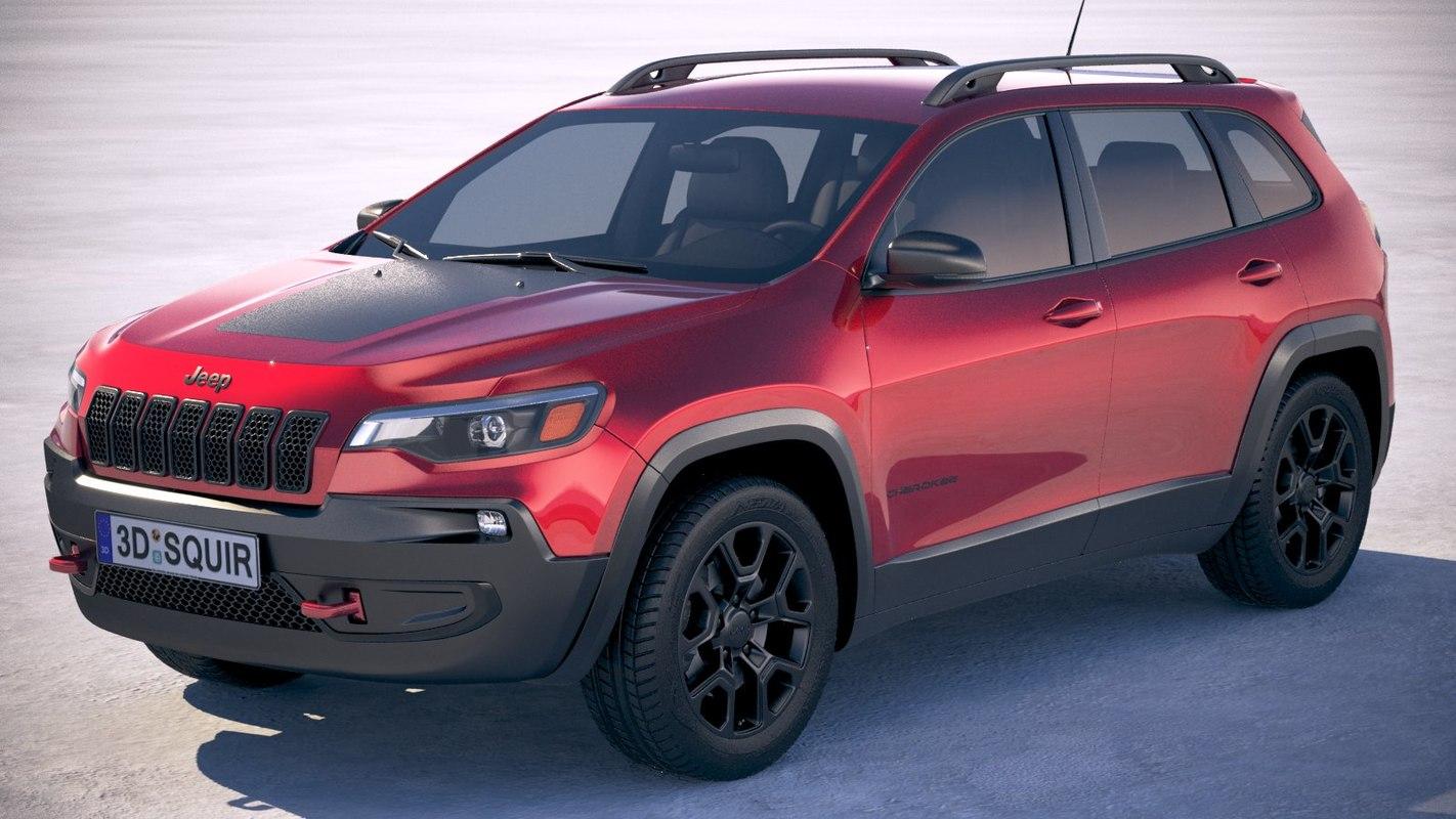 Jeep Wagoneer 2019 >> Jeep cherokee 2019 3D model - TurboSquid 1258207