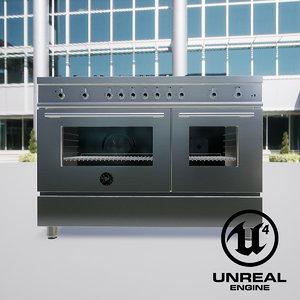 3D kitchen stove bertazzoni 1200 model