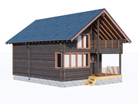 cottage siding 3D
