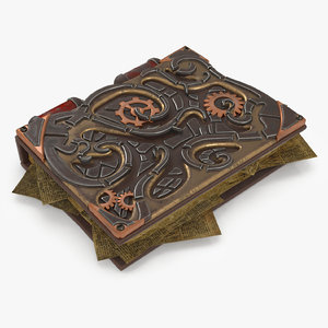 book steampunk 3D model