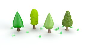 3D cartoon tree toon