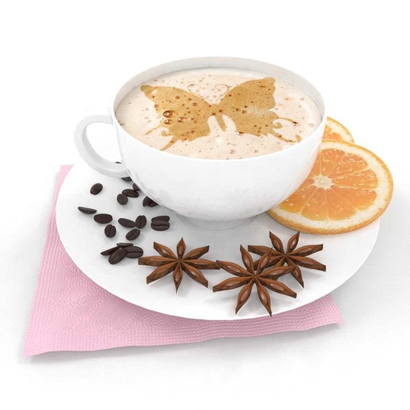 coffee orange anise 3D model