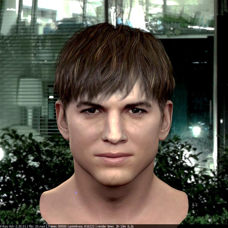 human head v7 male character 3D