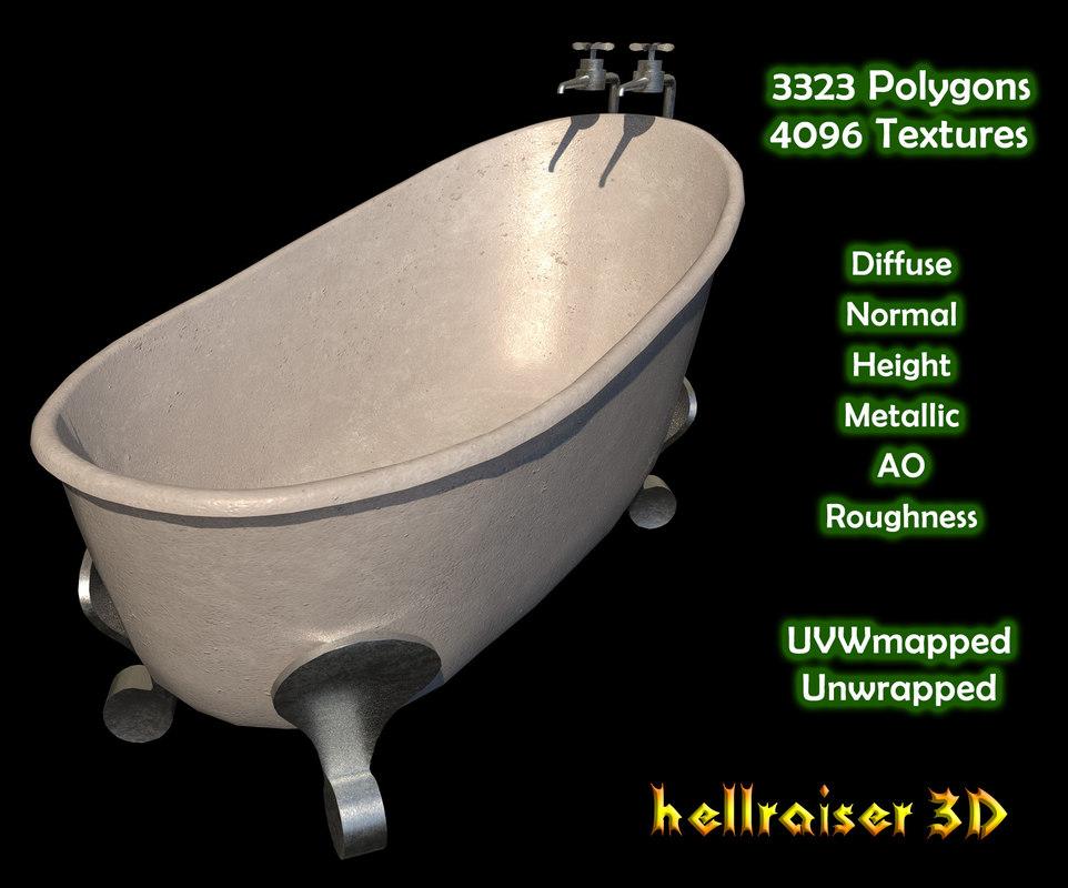 3D bath bathtub tub model - TurboSquid 1258259