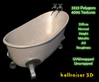3D bath bathtub tub model