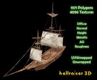 3D medieval ship model