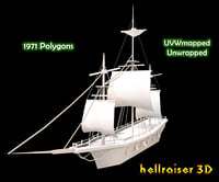 medieval ship 3D