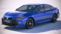 3D toyota avalon 2019 model