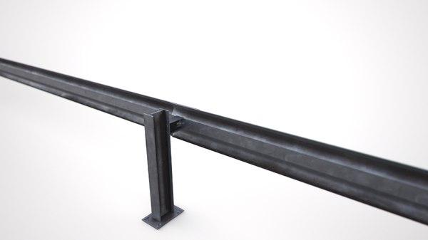 guardrail guard rail 3D model