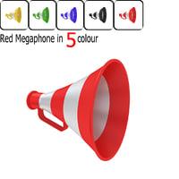 3D megaphone red