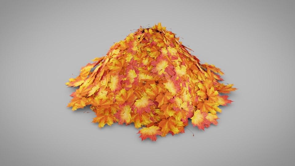 leaf pile model