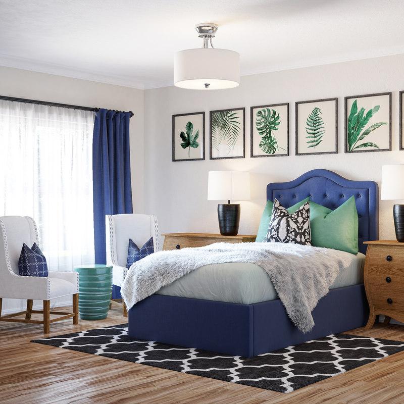 bedroom american style 3D