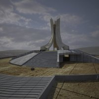 3D martyrs memorial model