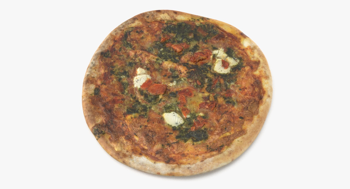 spinach pizza 3D model