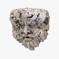 3D scan wall sculpture model