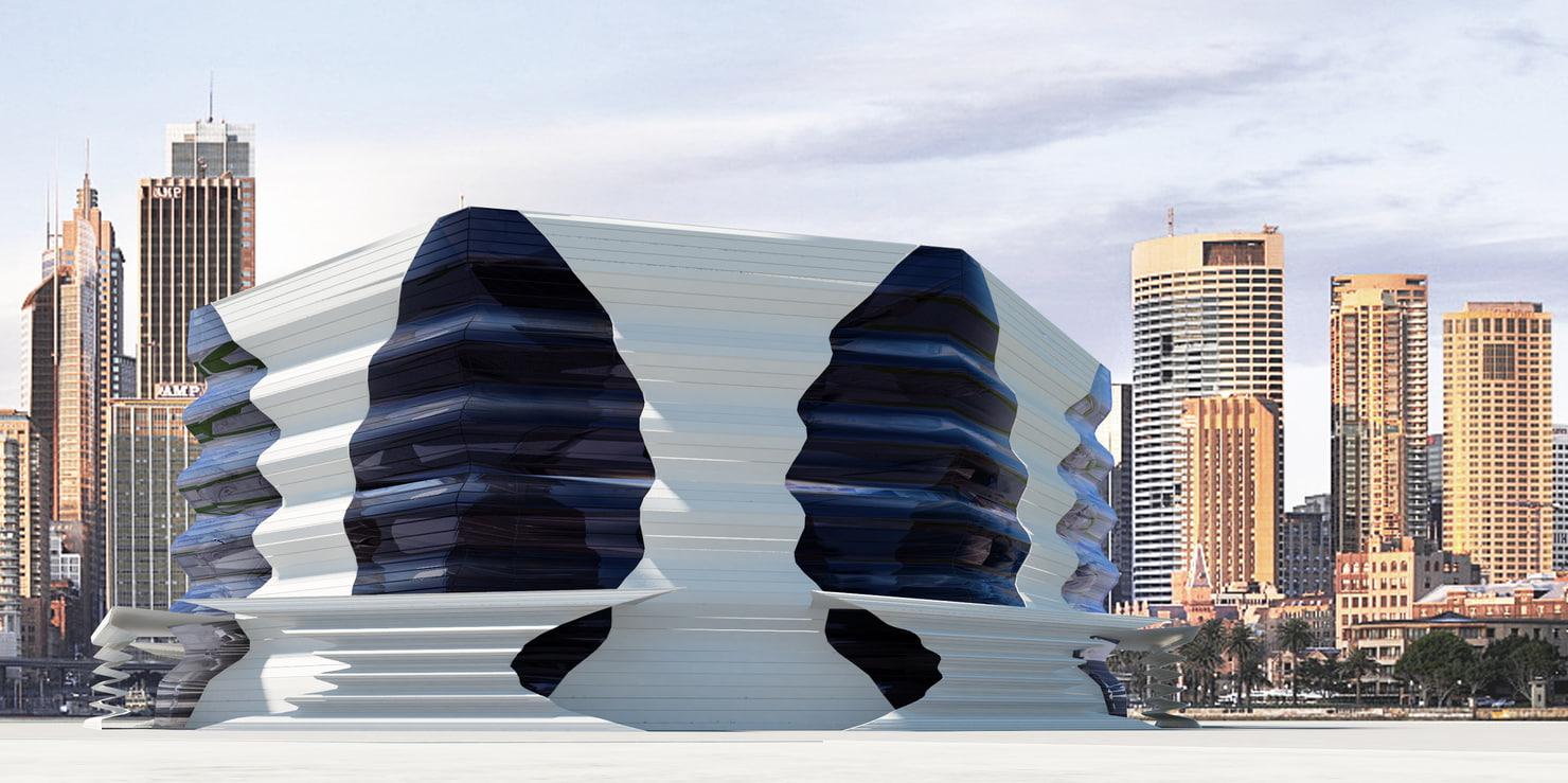 3D modern building model
