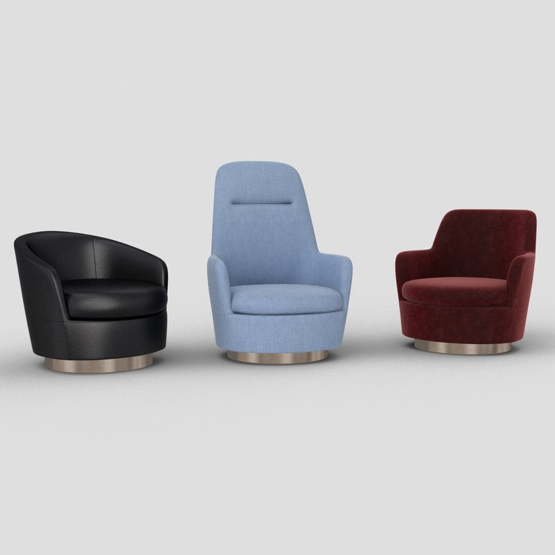 3D jacques armchairs