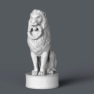 3d max zbrush lion