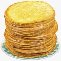 pancakes plate 3D model