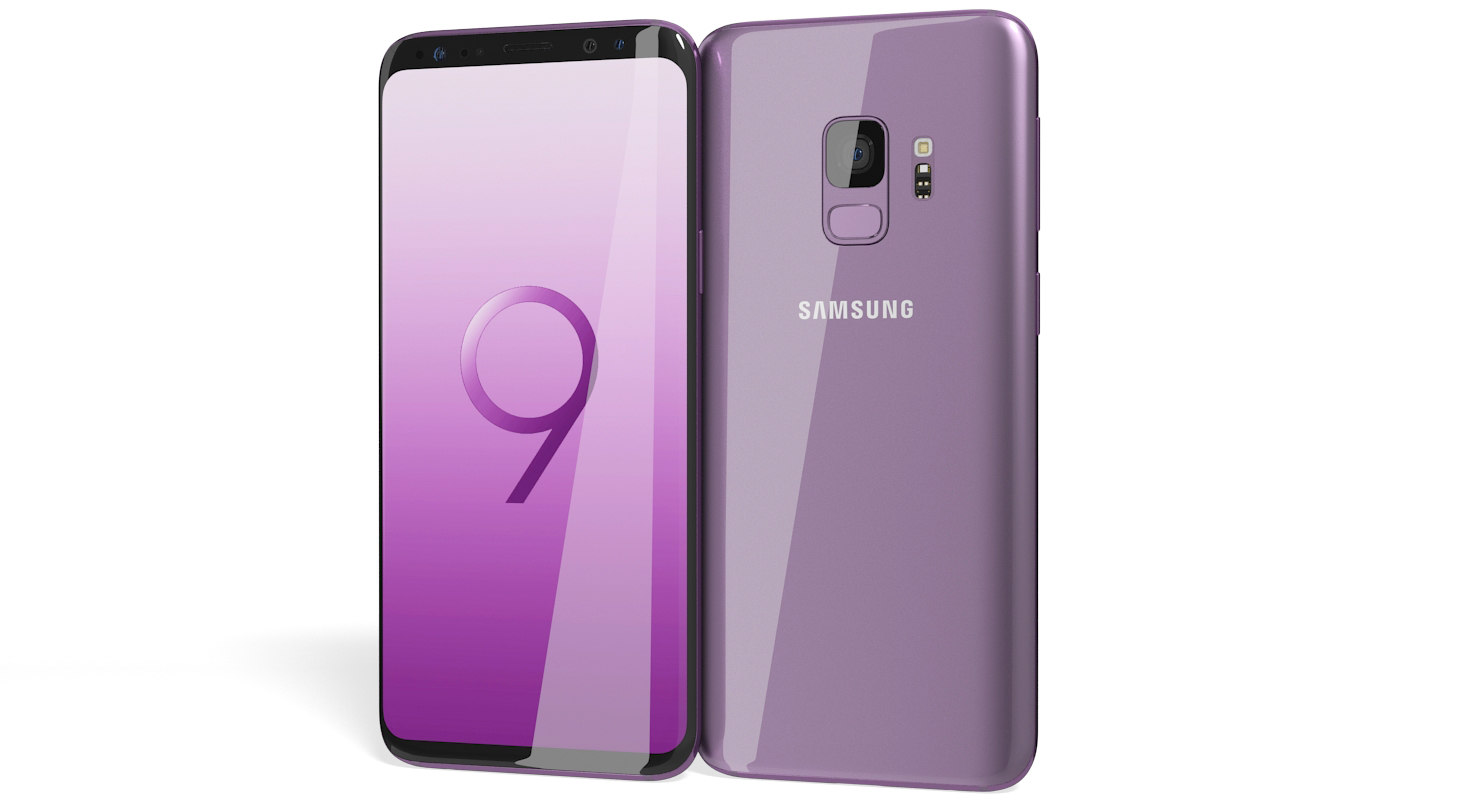 realistic samsung galaxy s9 3D model