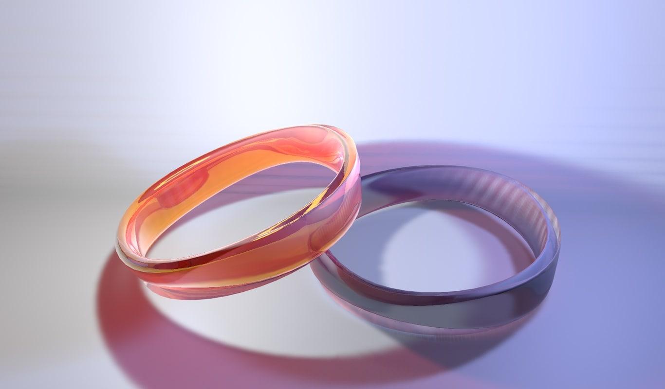 3D model glass plastic bracelet