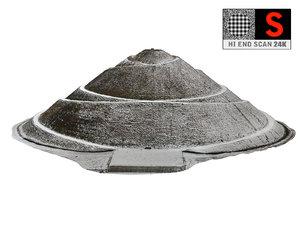 3D model mound hill winter