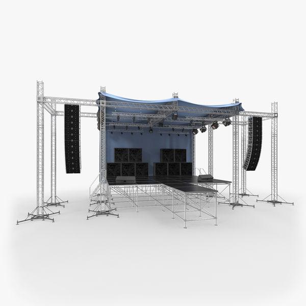 3D outdoor concert stage equipment