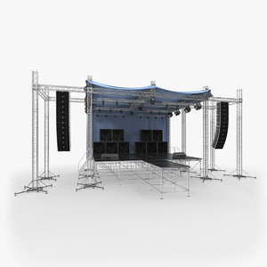 3D outdoor concert stage equipment
