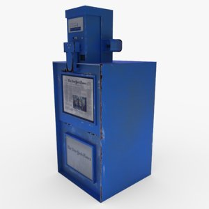 3D newspaper box