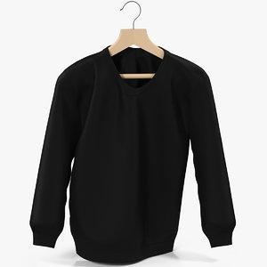 sweatshirt black 3D model