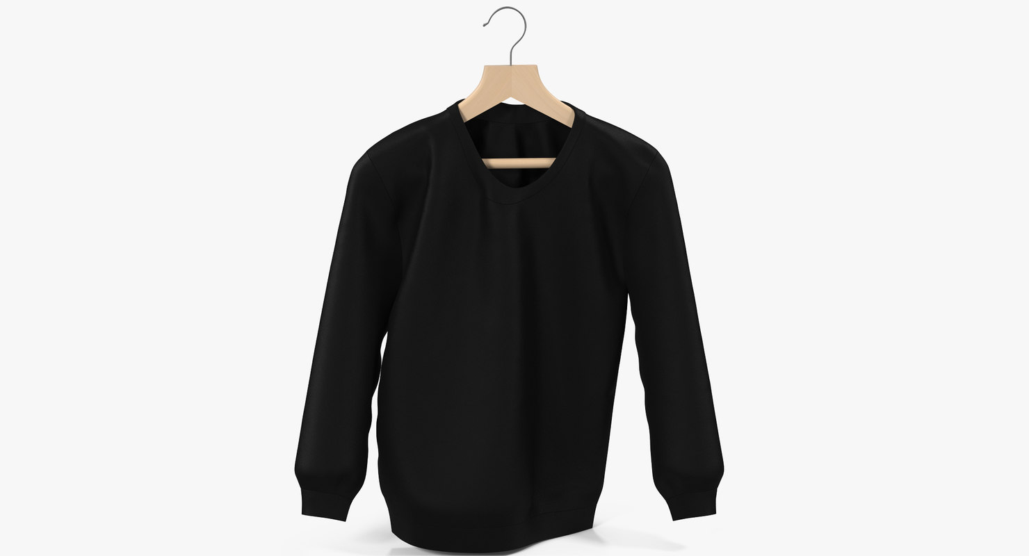 sweatshirt black 3D model