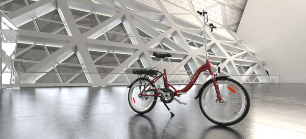 3D electric bicycle model