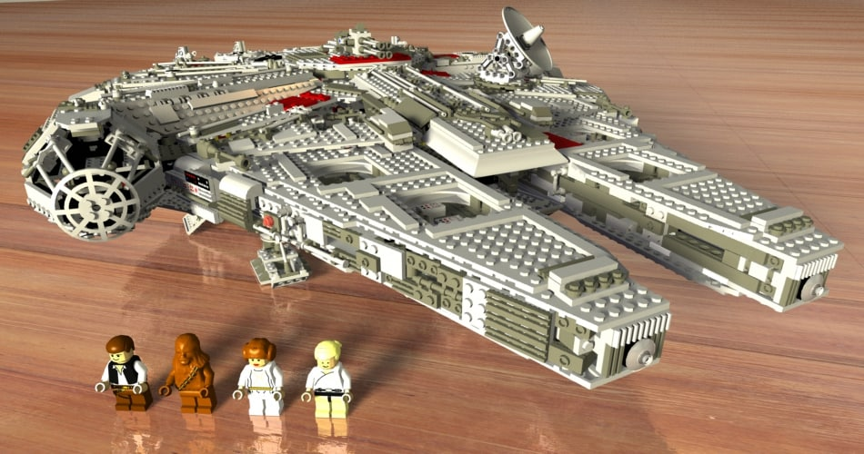 3D lego sw ep4 falcon model