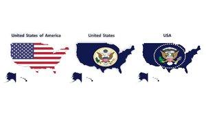 3D united states usa flag