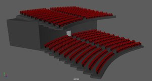 theater cinemas 3D model