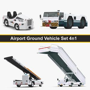 airport ground vehicle set model