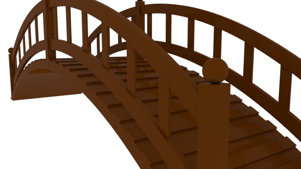simple bridge cartoon 3d turbosquid 1258437