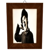 3D charlie chaplin portrait