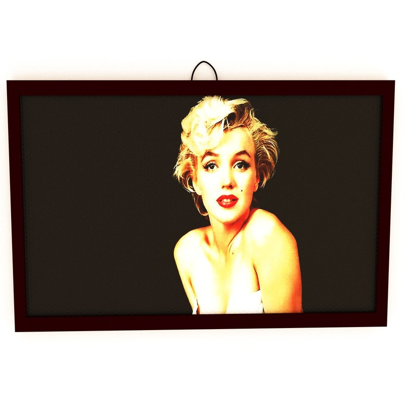 3D marilyn monroe portrait
