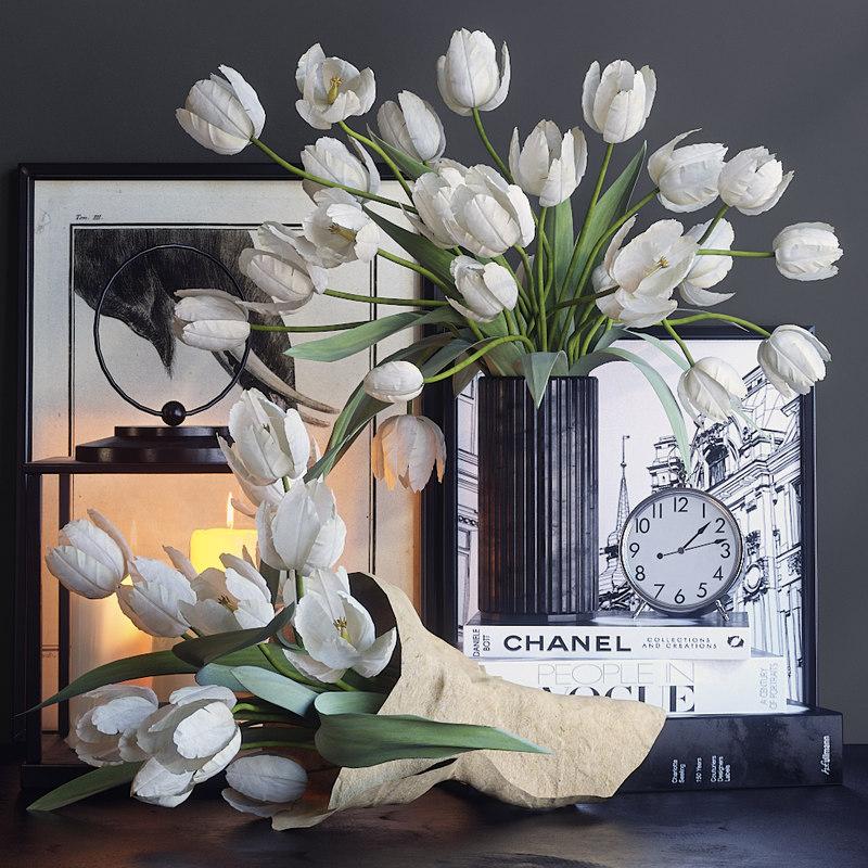 decor tulips set 3D model