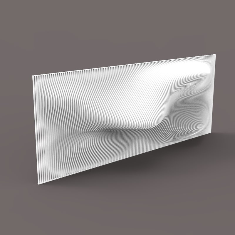 5 parametric grasshopper walls 3D model