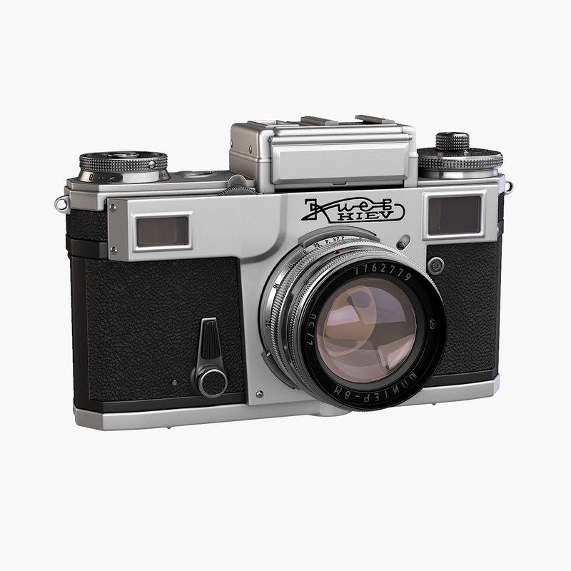 3D kiev4 retro camera