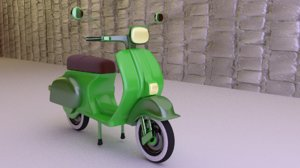 3D vespa scooter model